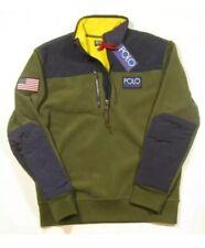 Polo Ralph Lauren Hi Tech Hybrid Fleece Pullover Jacket Olive / Men's XXL  BNWT