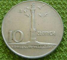 1965 Polen - Poland 10 zlote zloty zlotych 1965 700th anniversary of Warsaw