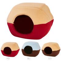 Dog Cat Warm Fleece Bed Igloo House Nest Soft Kennel +Pad Mat Cushion Pets Puppy