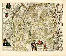 MAP ANTIQUE BLAEU THEATRE DU MONDE ANTWERP BRABANT REPLICA POSTER PRINT PAM0634