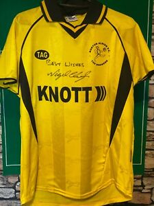 BURTON ALBION  - HOME SHIRT - SIGNED NIGEL CLOUGH (YOUTH) - SEE MEASUREMENTS