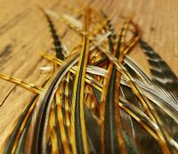 50 W//FLUFF natural brown furnace Saddle hackle Feather extensions Webbed crafts
