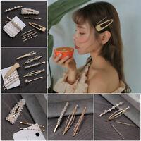 New 1SET Pearl Metal Hair Clip Hairband Comb Hairpin Barrette Hairpin Headdress