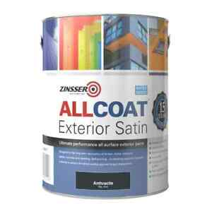 Zinsser Allcoat Exterior Satin (Water Based) Anthracite Grey RAL7016