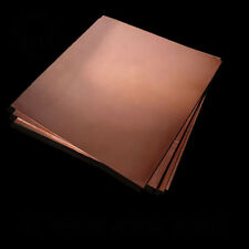 Copper T2 Sheet Plate Panel 1mm Thick Size 300mm x 100mm