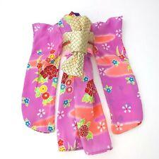 Barbie Japan Fashion Clothes Outfit Pink JAPANESE KIMONO Geniune Barbie
