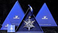 2005 SWAROVSKI CRYSTAL ANNUAL STAR/SNOWFLAKE Christmas Ornament NIB - NR200501