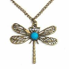 Vintage Bronze Dragonfly Pendant Boho Jewellery Fashion Summer Festival Bohemian