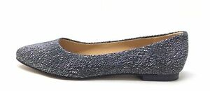 Trotters Womens Estee Ballet Flat Pointed Toe Black Metallic Leather Size 6