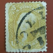 US Sc #67b Olive Yellow. Rare issue w/ bold, definitive color. Scott $4,750.