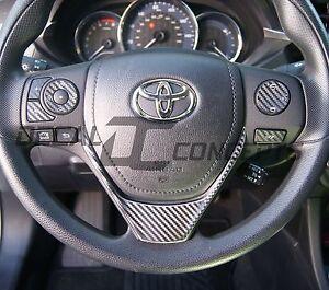 2014-2016 Corolla Carbon Fiber Full Steering Wheel Dress Up Decal Kit Cover