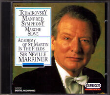Sir Neville MARRINER TCHAIKOVSKY Manfred Symphony Marche Slave CD 1993 Capriccio