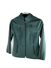 Arista equestrian zip up jacket. Green. Medium.