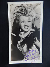 """Iris Adrian Autographed 3 1/4"""" X 6"""" Photograph from Estate"""
