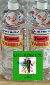 Danncy Pure Mexican Vanilla Extract 33.8oz Each 1 Liter Clear Bottles (2X)⚡🚚