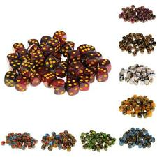 50Pcs Round Corner Diced Six Sided Die 12mm for Role Playing Game Props Toys