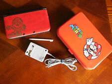 Nintendo 3DS XL Limited Edition Red  Super Mario Bros 2 w  HARD CASE Bundle
