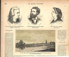 Auvers Oise Tableau Daubigny Hôtel Drouot/Comtesse d'Agoult/Holmès GRAVURE 1876