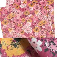Vintage ELY Walker Pink Floral No Iron Permanent Press Muslin Full Flat Sheet