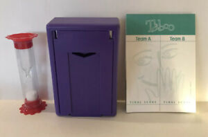 Taboo Game Replacement Card Holder, Sand Timer, Score Sheets Parts & Pieces 2000