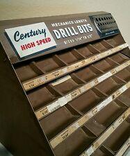 Century Mechanics Drill Bit Hardware Store Display Vintage Garage Man Cave Rack