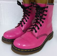 Dr Martens 1460 pink patent leather boots UK 5 EU 38