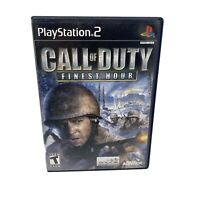 Call of Duty: Finest Hour (Sony PlayStation 2, 2004) Ps2 - Complete! Black Label
