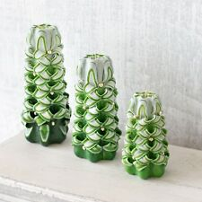 Christmas tree candle set - green candles handmade for Christmas decorations