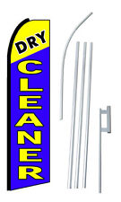 Complete 15' Dry Cleaner Kit Swooper Feather Flutter Banner Sign Flag