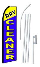 Complete 15 Dry Cleaner Kit Swooper Feather Flutter Banner Sign Flag