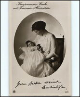Adel Monarchie ~1910/20 Kronprinzessin Cecilie mit Prinzessin Alexandra als Kind