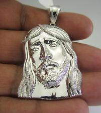 .51 CARAT MENS 100% GENUINE DIAMOND JESUS HEAD FACE CROSS CHARM PENDANT PIECE
