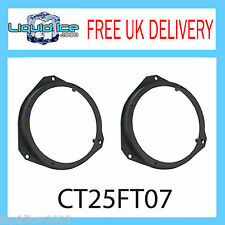 CT25FT07 FIAT PUNTO 2006 ONWARDS 165MM FRONT DOOR SPEAKER ADAPTOR FITTING KIT