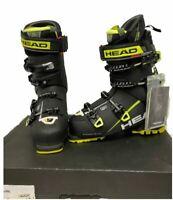 $700 Head Vector Evo 130S Ski Boots Mens Sz 26.5 Alpine '18 Black Yellow Expert