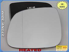 VW TOUAREG FL 2007-2010 Wing Mirror Glass Wide Angle HEATED Left Side /A016