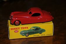 Vintage Dinky Toys / MIB / Red Jaguar XK120 Coupe / No. 157