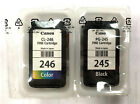 GENUINE CANON PG-245 BLACK & CL-246 COLOR INK CARTRIDGES for MG2520, MG2920 and