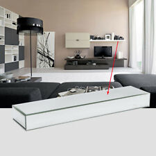 70cm Long Bevelled Mirrored Floating Shelf Mirror Wall Shelf Display Home Decor