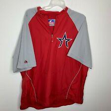 Majestic Mens 2XL Red & Grey Houston Astros Short Sleeve Pullover Windbreaker