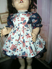 "New 3 pc Dress Apron Set Doll clothes fits 22-23"" Ideal Saucy Walker or Pedigree"