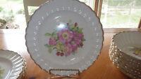 Vintage Rose Garden Dinnerware China by American Limoges Sebring Plates Bowls +