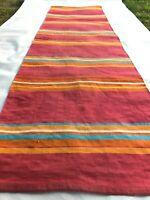 ANTIQUE VTG Carpet Mid-Century Geometry Design Kilim Rug Eastern Europe Knotted