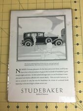 Vintage Studebaker Builder of Champions Advertisement President Eight State