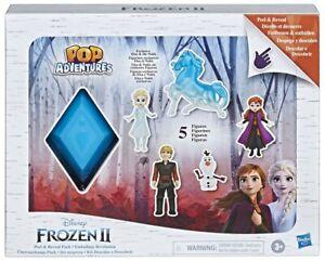 DISNEY FROZEN 2 II POP ADVENTURES PEEL & REVEAL PACK 5 Collectable Figure Set