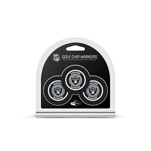 NFL Oakland Raiders 3 Pack Golf Ball Markers Poker Chip Enamel Team