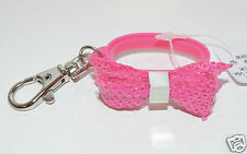 NEW STYLE BATH BODY WORKS PINK BOW RING SEQUIN POCKETBAC HOLDER SLEEVE SANITIZER