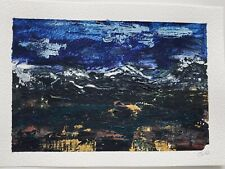 More details for original signed landscape painting. acrylic on paper