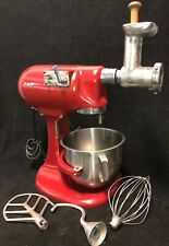 Vintage Hobart N50 5 Qt Countertop Mixer w/Ss Bowl,Whisk,Paddle,Hook & Grinder