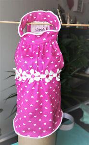 Pet clothes: Lulupink;Summer/Spring Dress w/Hearts & Daisy Trim , S