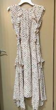 NWT $587 Ulla Johnson Dorothea Ruffle Silk Dress Size 6